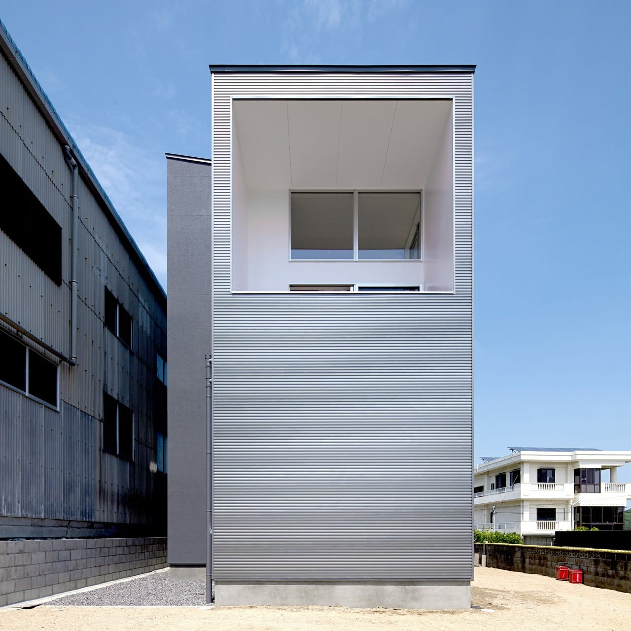 開放的なスキップフロア住宅