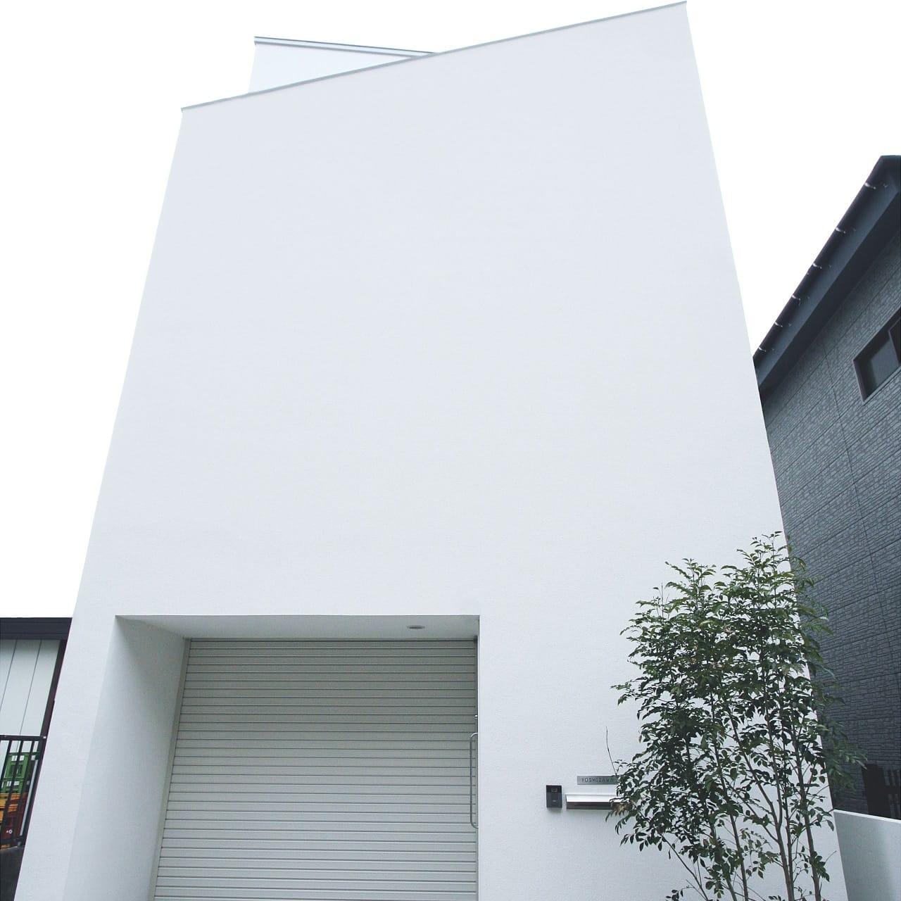 インナーテラスのある明るい住宅