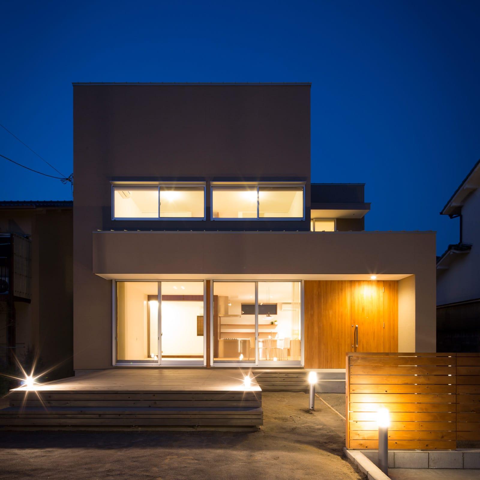 川西 GREEN HOUSEの夕景(外部)1