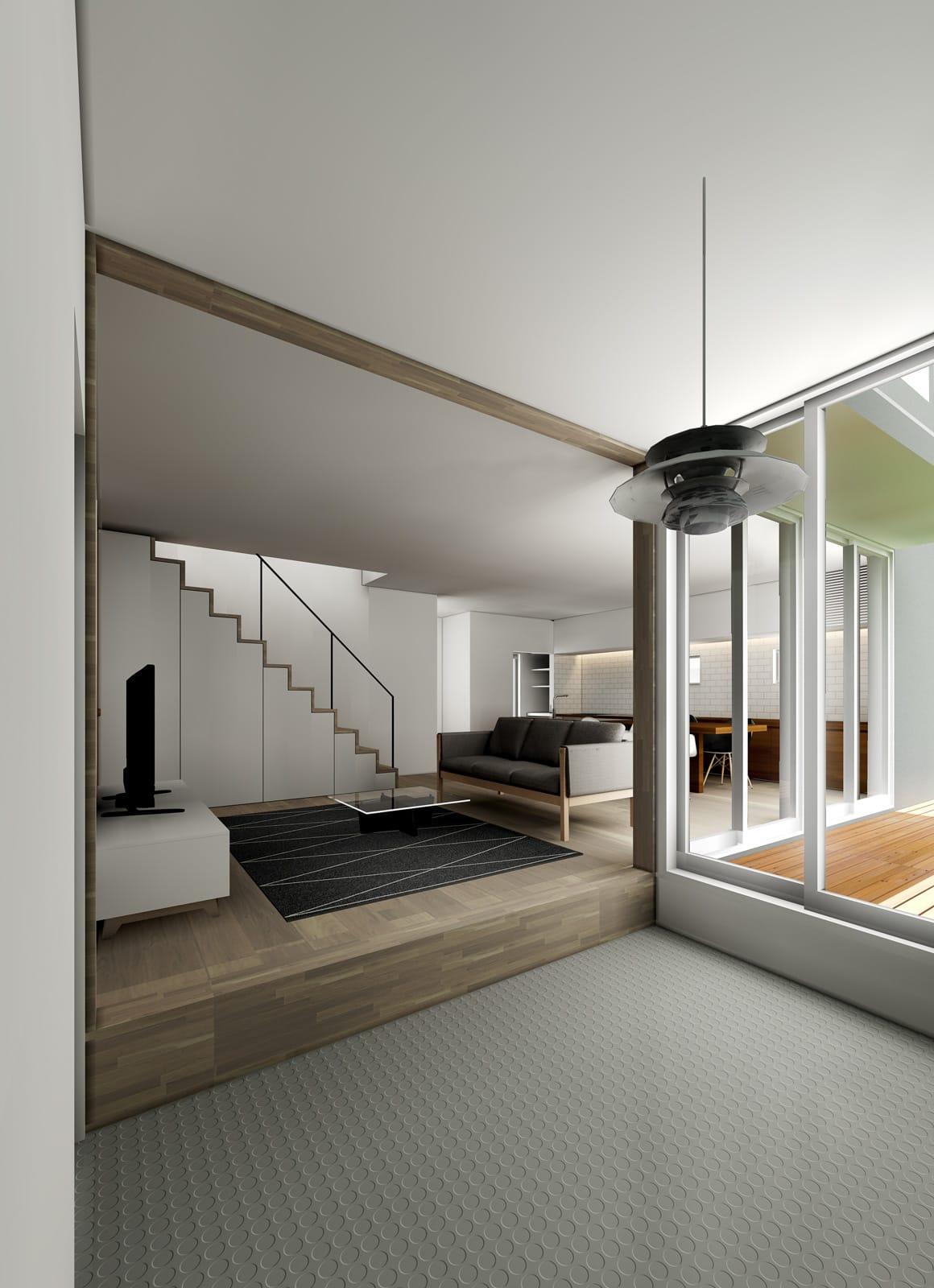 ヌーディストテラスハウスのcg6 - l.d.homes®のインテリア例 - シンプル