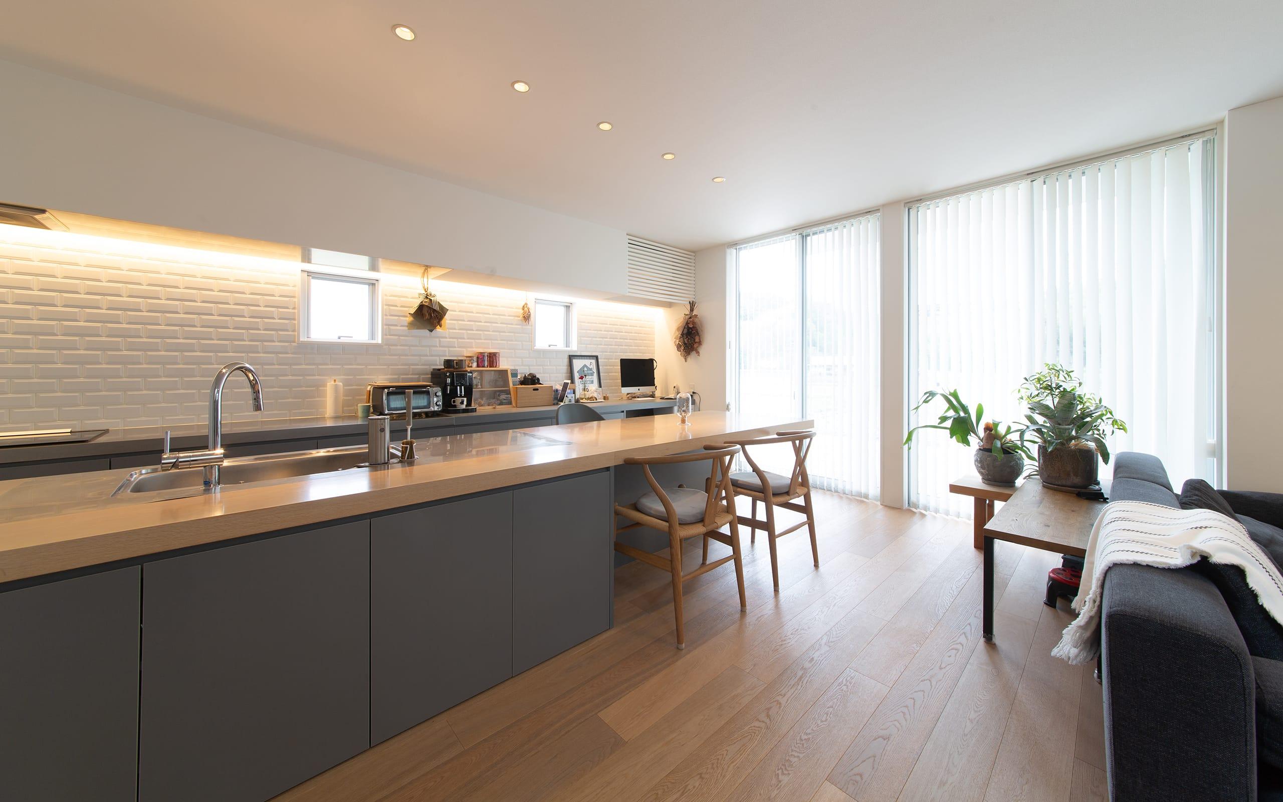 ヌーディストテラスハウスのキッチン2