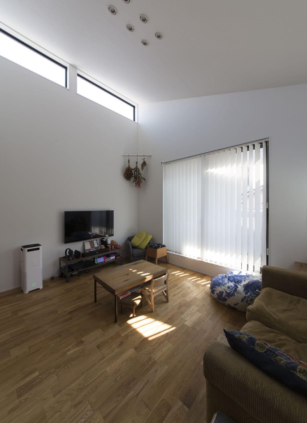 コンパクトデザインハウスのリビング1