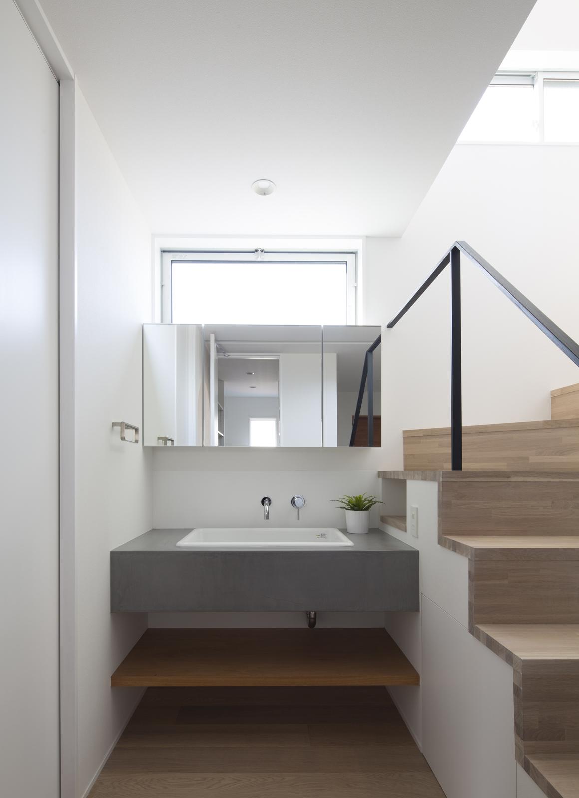 プライベートキューブハウスの浴室・洗面室1
