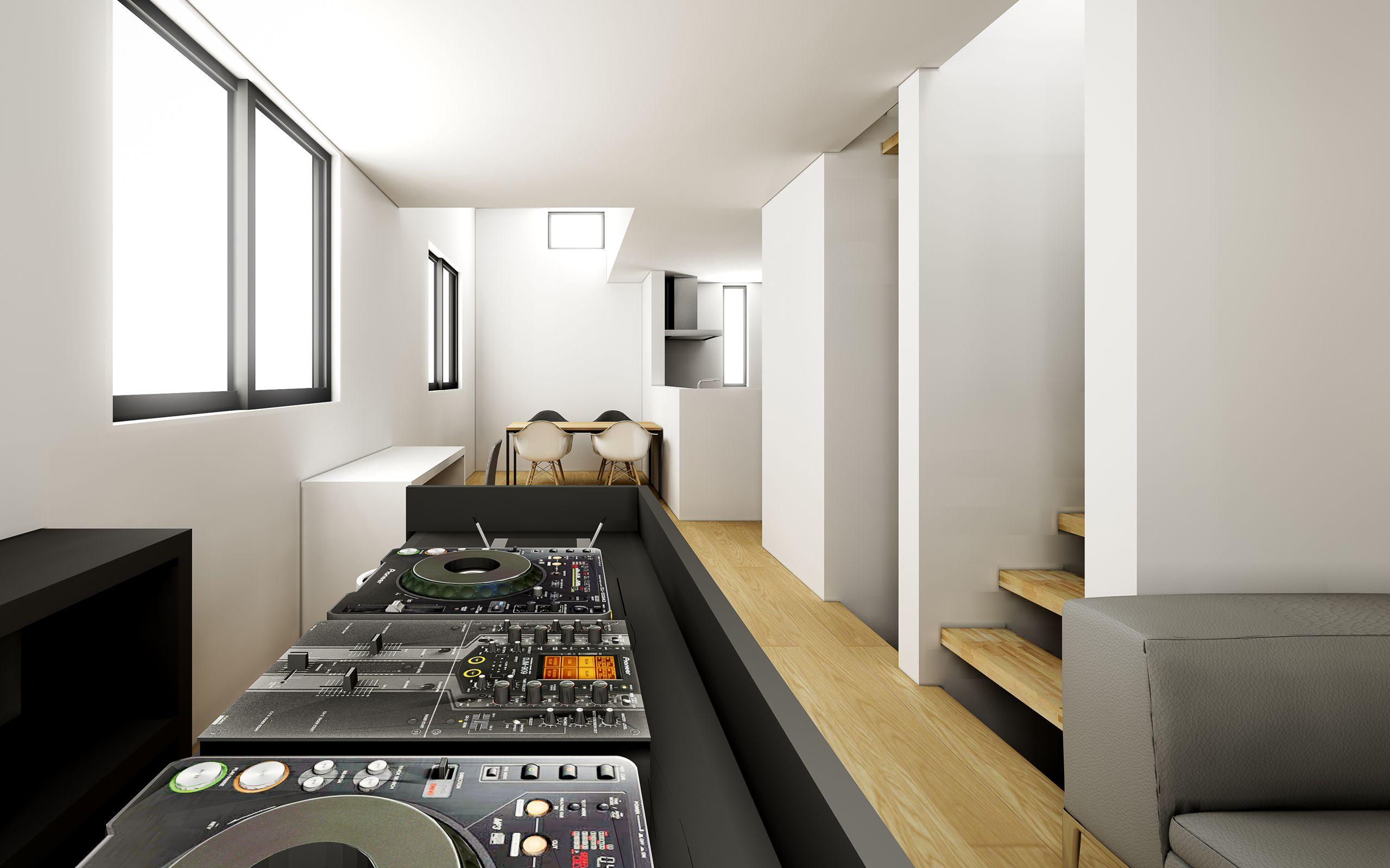 DJブースのある家のCG3